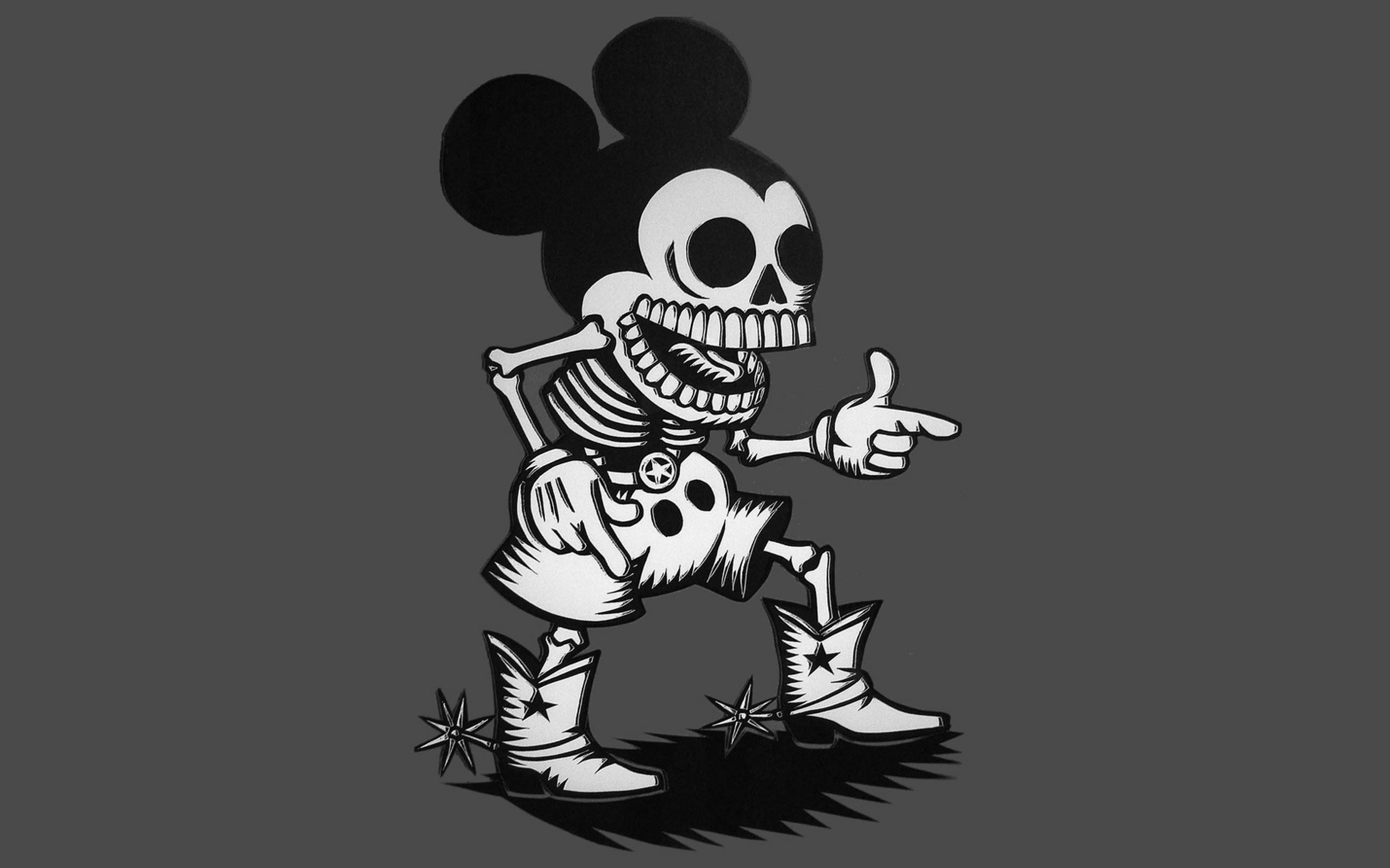 Black And White Mickey Mouse Wallpaper